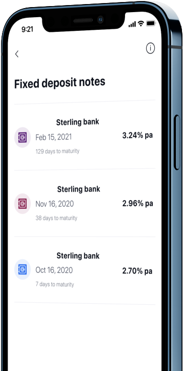Smartphone with I-Invest app splash screen